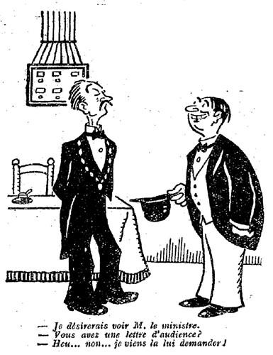 Le Pêle-Mêle 1927 - n°173 - page 3 - Je désirerais voir M. le ministre (G) - 12 juin 1927