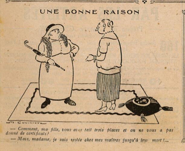 Le Pêle-Mêle 1925 - n°78 - page 19 - Une bonne raison - 16 août 1925