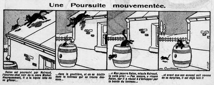 Lisette 1925 - n°210 - page 2 - Une poursuite mouvementée - 19 juillet 1925