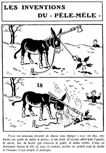 Le Pêle-Mêle 1929 - n°303 - Voici un procédé de chasse sans danger - 8 décembre 1929 - page 13