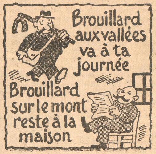 Almanach CV-AV 1946 - REBATIR - page 37- Proverbe de Octobre