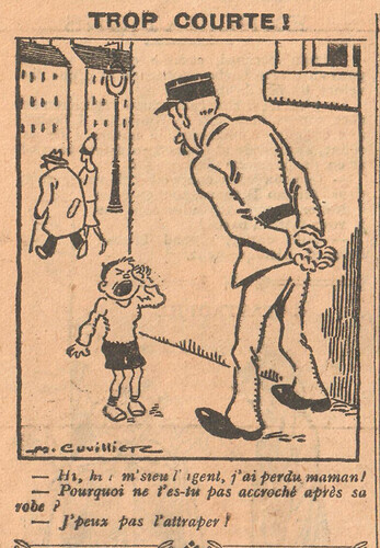 Le Pêle-Mêle 1926 - n°149 - page 10 - Trop courte - 26 décembre 1926