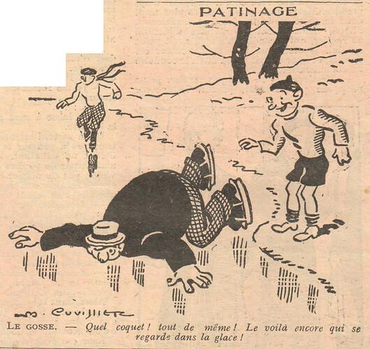Le Pêle-Mêle 1928 - n°253 - page 12 - Patinage - 23 décembre 1928