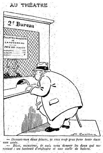 Le Pêle-Mêle 1925 - n°60 - page 3- Au théâtre (G) - 12 avril 1925