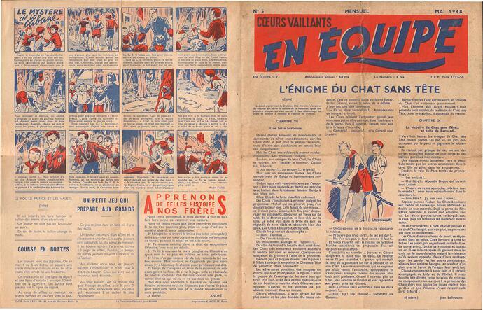 En Equipe - Coeurs Vaillants 1948 - n°5 - Mai 1948 - pages 1 et 4