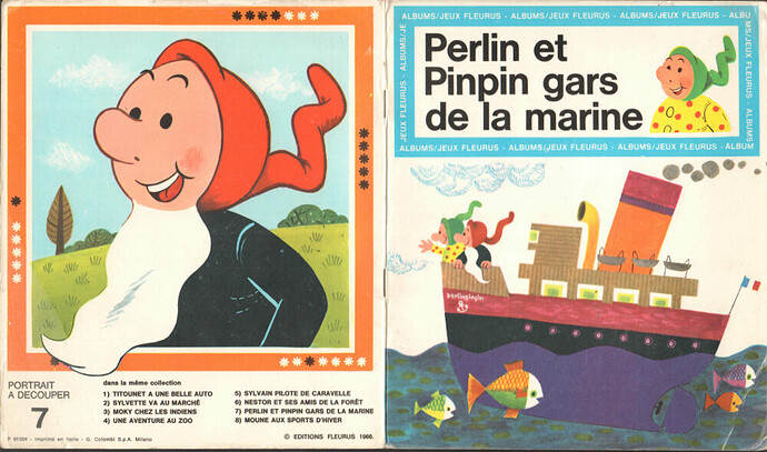 Album-Jeux n°7 - Perlin et Pinpin gars de la marine - 1966 - 1 - pages 0 et 17