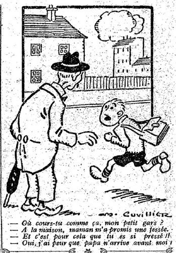 Le Pêle-Mêle 1927 - n°170 - page 11 - Où cours-tu comme ça mon petit gars (G) - 22 mai 1927