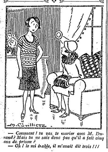 Le Pêle-Mêle 1927 - n°156 - page 10 - Comment tu vas te marier avec M. Durand (G) - 13 février 1927