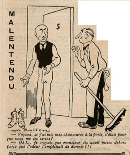 Le Pêle-Mêle 1925 - n°74 - page 19 - Malentendu - 19 juillet 1925