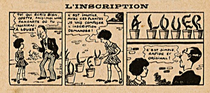 Almanach Lisette 1939 - L'inscription - page 94
