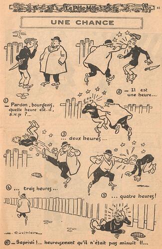Le Pêle-Mêle 1926 - n°116 - page 15 - Une chance - 9 mai 1926