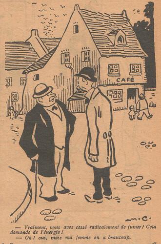 Le Pêle-Mêle 1927 - n°163 - page 9 - Vraiment vous avez cessé radicalement de fumer - 3 avril 1927
