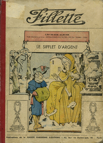 Fillette 1933 - Album Le sifflet d'argent - couverture