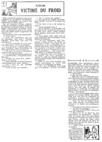 Le Pêle-Mêle 1927 - n°197 - page 3 - Une victime du froid (G) - 27 novembre 1927