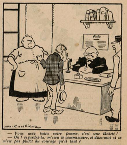 Le Pêle-Mêle 1927 - n°161 - page 3 - Vous avez battu votre femme - 20 mars 1927