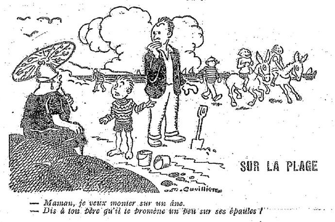 Le Pêle-Mêle 1927 - n°177 - page 16 - Sur la plage (G) - 10 juillet 1927