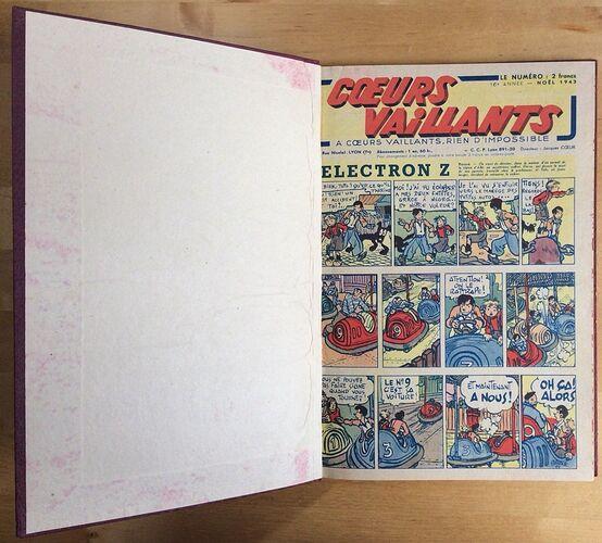 Reliure Coeurs Vaillants 1944 vendu en août 2018 (7)