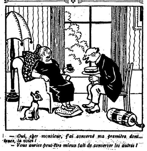 Le Pêle-Mêle 1926 - n°107 - page 16 - Oui cher monsieur, j'ai conservé ma première dent (G) - 7 mars 1926