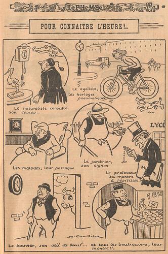 Le Pêle-Mêle 1926 - n°130 - page 15 - Pour connaître l'heure - 15 août 1926