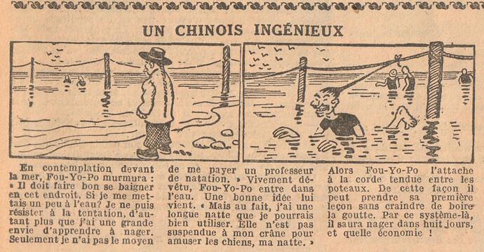 Le Petit Illustré 1929 - n°1267 - page 4 - Un chinois ingénieux - 20 janvier 1929