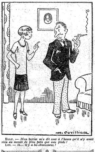 Le Pêle-Mêle 1927 - n°172 - page 16 - Mon bottier m'a dit tout à l'heure (G) - 5 juin 1927