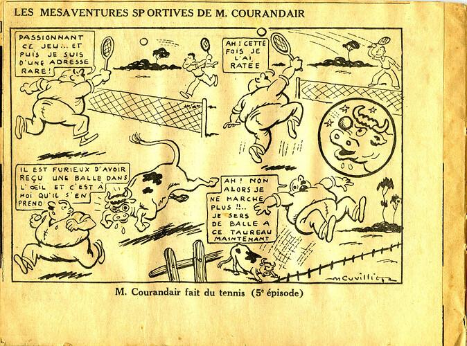 Les mésaventures sportives de M. COURANDAIR (5e épisode)