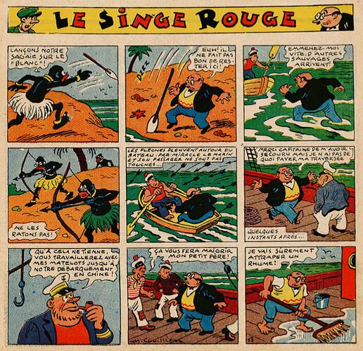 Pat épate 1949 - n°26 - Le Singe Rouge - 26 juin 1949 - page 1