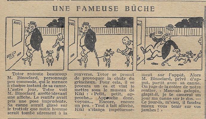 Cri-Cri 1926 - n°401 - page 5 - Une fameuse bûche - 3 juin 1926