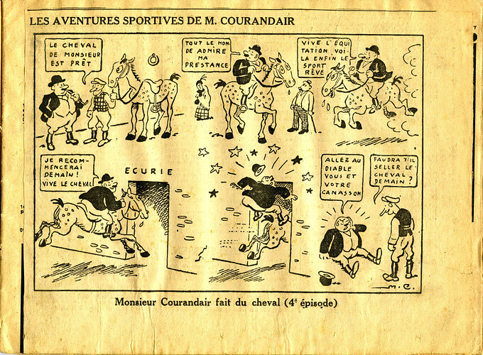 Les mésaventures sportives de M. COURANDAIR (4e épisode)