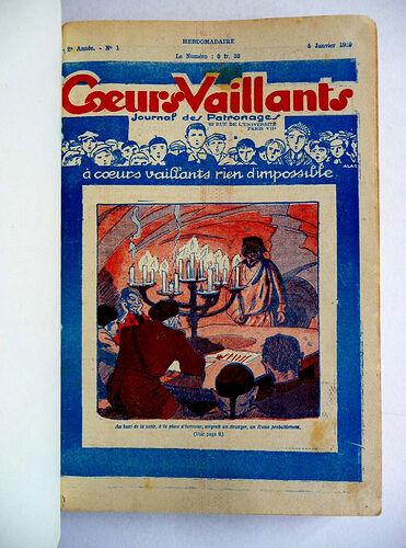 Reliure Coeurs Vaillants 1929 - du n°1 à 29 (1)