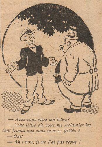Le Pêle-Mêle 1928 - n°246 - page 20 - Avez-vous reçu ma lettre - 4 novembre 1928