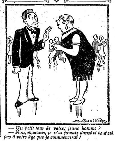 Le Pêle-Mêle 1927 - n°173 - page 11 - Un petit tour de valse jeune homme (G) - 12 juin 1927