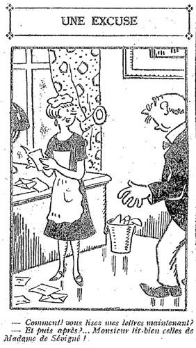 Le Pêle-Mêle 1927 - n°158 - page 10 - Une excuse (G) - 27 février 1927