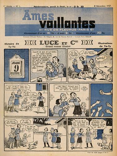 Ames Vaillantes 1937 - n°1 - 8 décembre 1937 - page 1