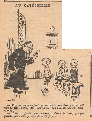 Le Pêle-Mêle 1927 - n°154 - page 7 - Au catéchisme - 30 janvier 1927