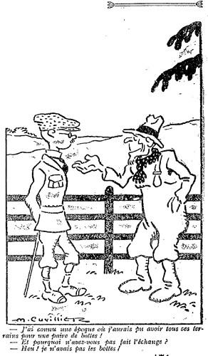 Le Pêle-Mêle 1927 - n°171 - page 7 - J'ai connu une époque où j'aurais pu avoir tous ces terrains pour une paire de bottes (G) - 29 mai 1927