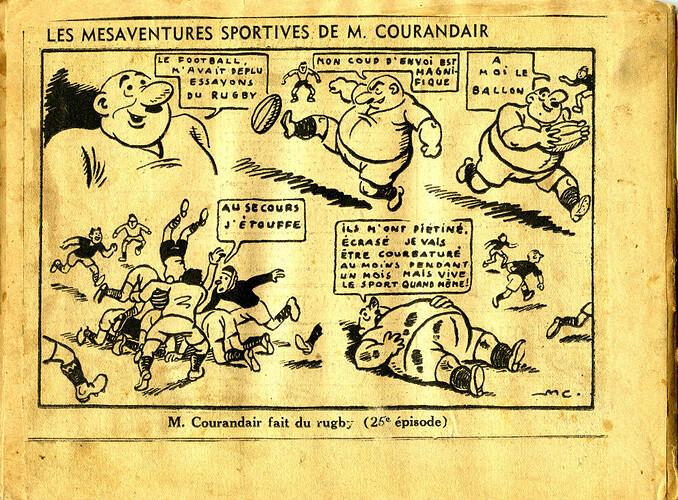 Les mésaventures sportives de M. COURANDAIR (25e épisode)
