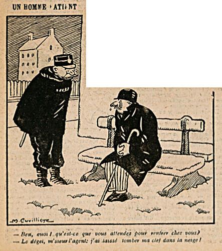 Le Pêle-Mêle 1925 - n°94 - page 3 - Un homme patient - 6 décembre 1925