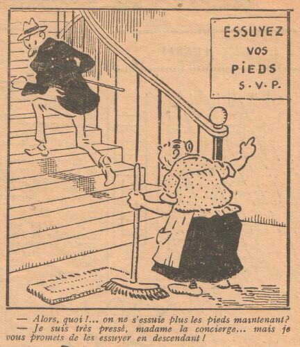 Le Pêle-Mêle 1927 - n°151 - page 17 - Alors quoi on ne s'essuie plus les pieds maintenant - 9 janvier 1927
