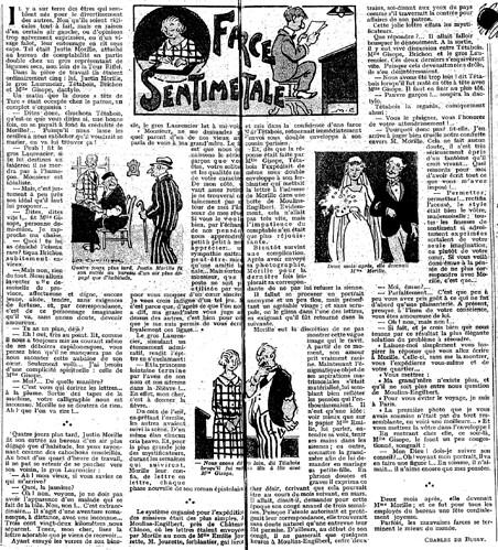 Le Pêle-Mêle 1925 - n°77 - pages 10 et 11 - Farce sentimentale (G) - 9 août 1925