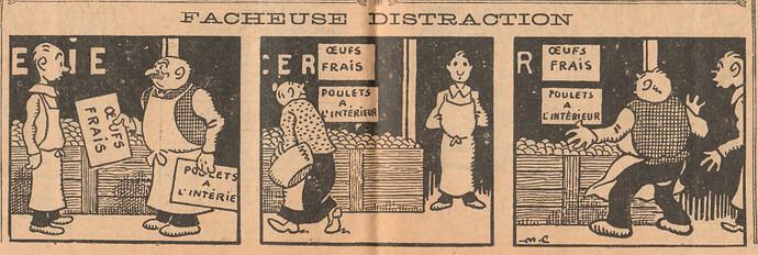 Le Pêle-Mêle 1927 - n°153 - pages 10 et 11 - Facheuse distraction - 23 janvier 1927
