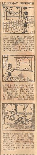 Le Petit Illustré 1929 - n°1270 - page 2 - Le hamac improvisé - 10 février 1929