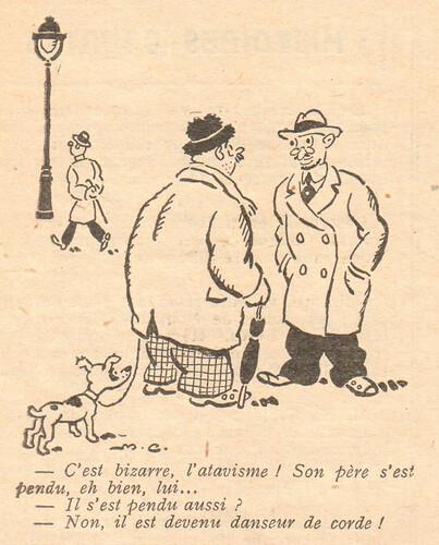 Le Pêle-Mêle 1929 - n°272 - C'est bizarre l'atavisme - 5 mai 1929 - page 10