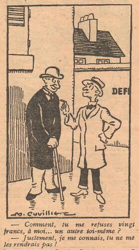 Le Pêle-Mêle 1927 - n°189 - page 6 - Comment tu me refuses vingt francs - 2 octobre 1927