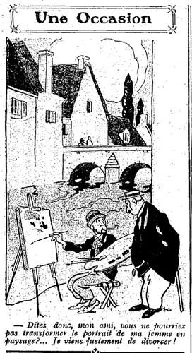 Le Pêle-Mêle 1925 - n°68 - page 10 - Une occasion (G) - 7 juin 1925