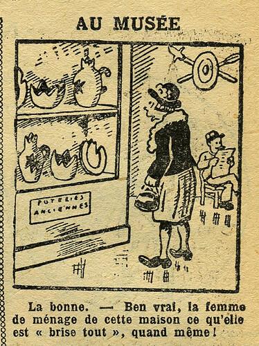 Fillette 1933 - n°1296 - page 4 - Au musée - 22 janvier 1933