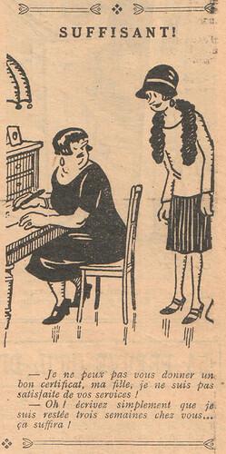 Le Pêle-Mêle 1928 - n°241 - page 7 - Suffisant ! - 30 septembre 1928