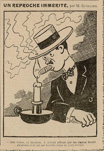 Almanach Vermot 1931 - 62 - Un reproche immérité - Lundi 26 octobre 1931