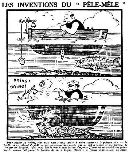 Le Pêle-Mêle 1929 - n°301 - Pour pêcher en rivière - 24 novembre 1929 - page 13