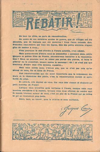 Almanach CV-AV 1946 - REBATIR - éditorial - page 1